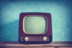 老电视葡萄酒 库存照片