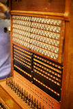 老电话交换机 免版税图库摄影