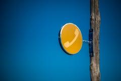 老电话标志 免版税图库摄影