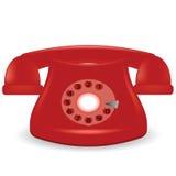 老电话红色 免版税库存图片