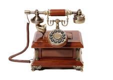 老电话葡萄酒 免版税库存照片