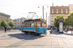 老电车在哥特人市 库存图片