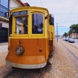 老电车在波尔图 免版税图库摄影