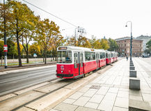 老电车在维也纳,奥地利 库存照片
