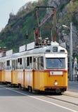 老电车类型黄色 库存图片
