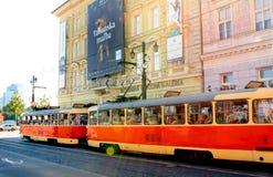 老电车轨道-布拉索夫 免版税库存图片