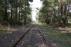 老电车轨道 免版税库存图片