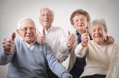 老男人和妇女 免版税库存图片