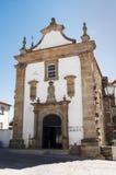 老男修道士的教会门面 库存图片