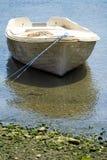 老白色小船 库存照片