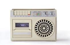 老白色录音磁带播放机和记录器从苏联 免版税图库摄影