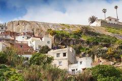 老白色房子在麦地那,唐基尔,摩洛哥 免版税库存图片
