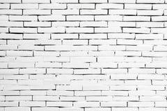 老白色砖墙纹理设计 倒空介绍和网络设计的白色砖背景 很多空间为 免版税库存照片