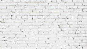 老白色砖墙背景 免版税库存照片