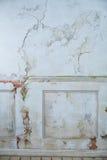 老白色葡萄酒墙壁craquelure 免版税库存图片