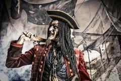 死老的海盗 库存照片