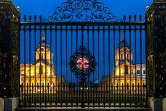 老皇家海军学院在格林威治,伦敦,英国 免版税库存照片