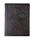 老皮革书,被弄皱的纹理 免版税库存图片