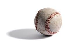 老皮革棒球 免版税库存照片