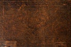 老皮革背景纹理 库存图片