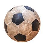 老皮革足球 库存图片