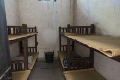 老监狱牢房在龙华受难者` s博物馆在上海 库存图片
