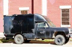 老监狱警车蒙大拿状态 免版税库存照片