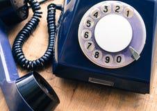 老盘的电话通信方式过去的 免版税库存照片