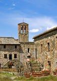 老石别墅在托斯卡纳,意大利 免版税库存照片