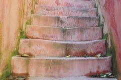 老石台阶 免版税库存图片