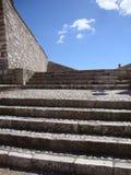 老石台阶 免版税图库摄影