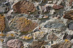 老石墙外部,与纹理的背景 库存照片