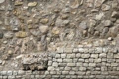 老石墙浮出水面纹理背景,纹理23 免版税库存图片