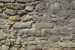 老石墙背景 库存照片
