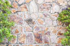 老石墙表面 免版税图库摄影