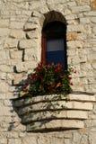 老石墙视窗 免版税库存照片