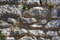 老石头都市墙壁纹理,墙纸,设计师模板 免版税库存照片