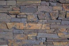 老石头/砖墙的门面视图设计背景的 库存照片