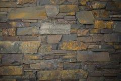 老石头/砖墙的门面视图设计背景的 库存图片