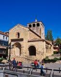 老石教会,历史的塞戈维亚,西班牙 免版税库存图片