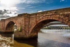 老石桥梁在苏格兰 库存照片
