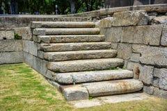 老石梯子的看法由主要华伦泰,铈很好雕刻了 免版税库存图片