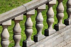 老石楼梯栏杆 图库摄影