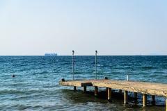 老石港口 库存照片