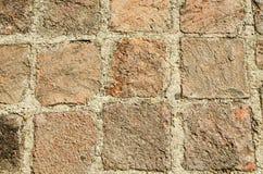 老石头纹理与水泥一起的 免版税库存图片