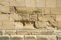 老石头纹理与水泥一起的 免版税库存照片