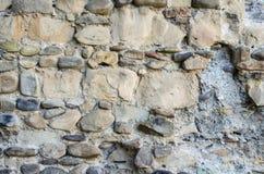 老石头纹理与水泥一起的 库存照片