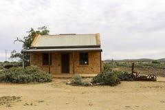 老矿工小屋在内地沙漠 免版税库存图片