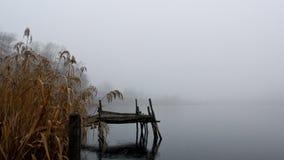 老码头冬天 库存照片
