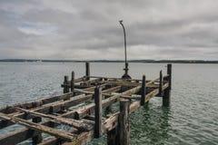 老码头在科芙 免版税库存照片